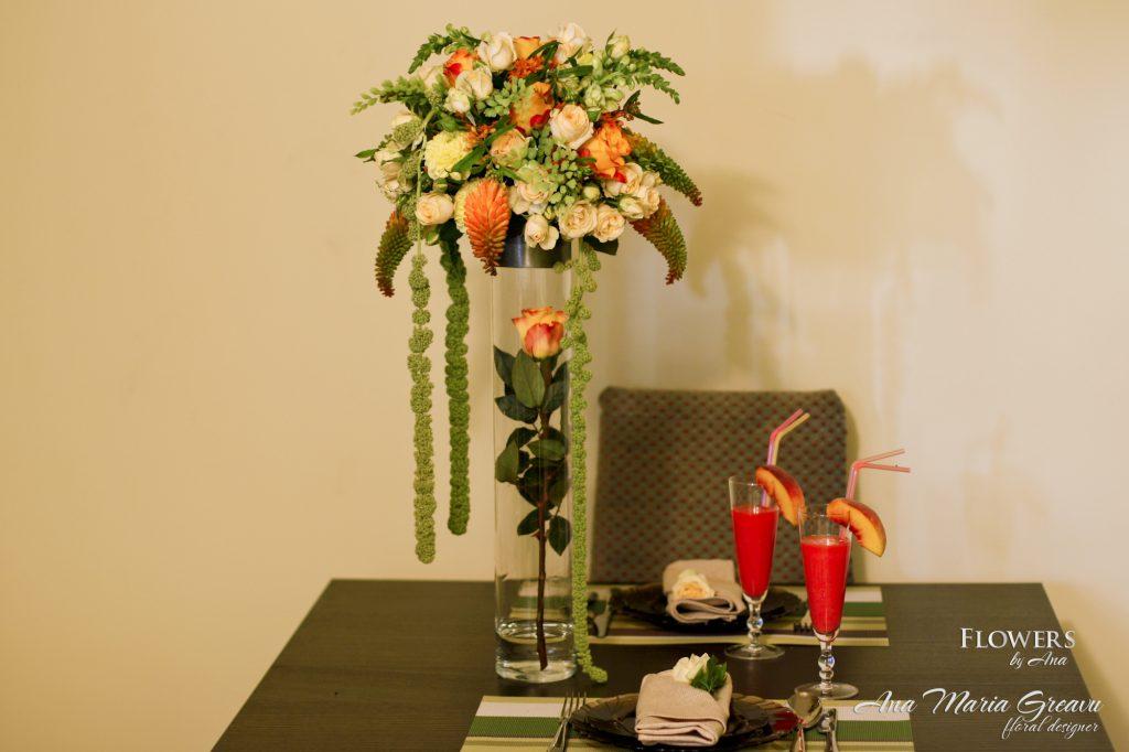 Aranjament floral inalt