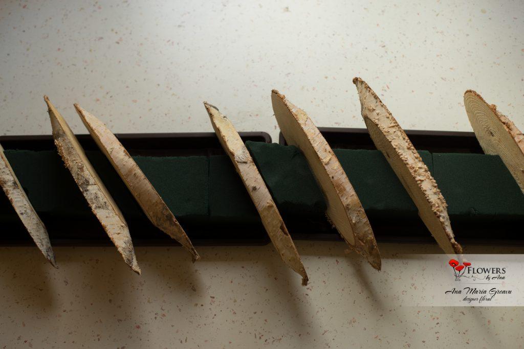 aranjament de Craciun cu amaryllis si ranunculus