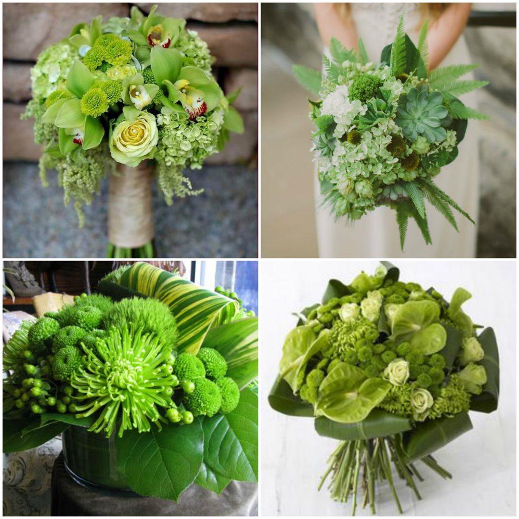 Buchete diin flori verzi